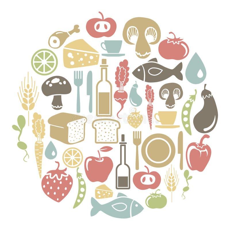 Jedzenie karta royalty ilustracja