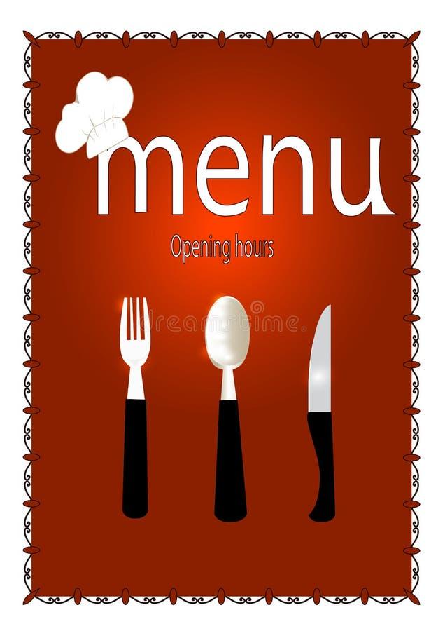 Download Jedzenie karta ilustracja wektor. Ilustracja złożonej z wyznaczający - 53781798