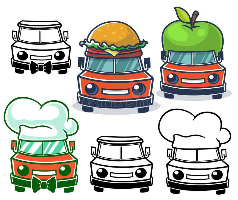 Jedzenie kresk?wki ci??arowy logo royalty ilustracja