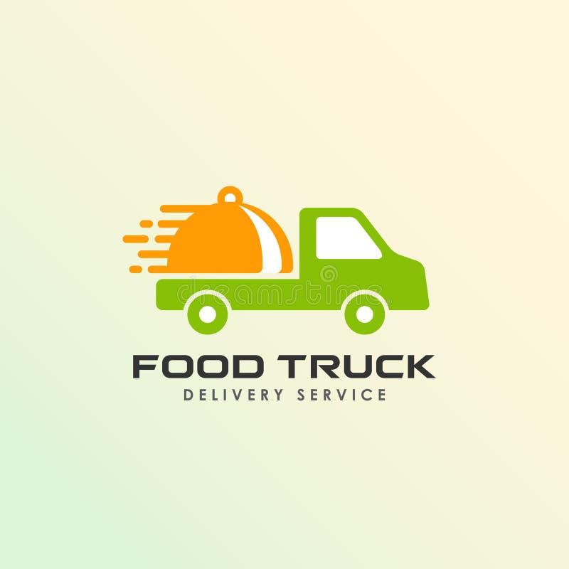 jedzenie logo projekta ciężarowy szablon Karmowy doręczeniowy loga projekt royalty ilustracja