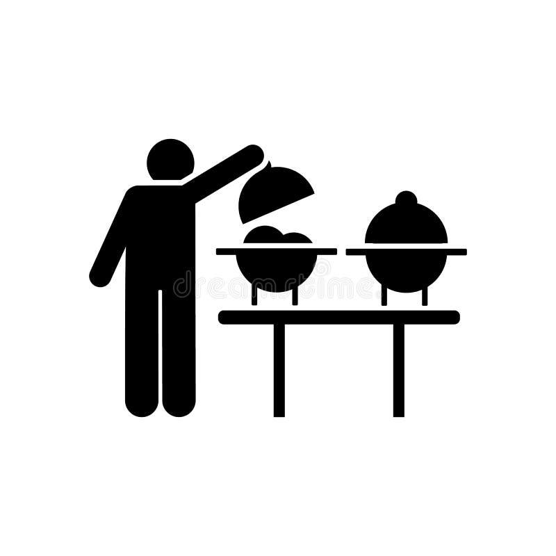 Jedzenie, mężczyzna, je, gość restauracji, mężczyzna ikona Element hotelowa piktogram ikona Premii ilo?ci graficznego projekta ik ilustracja wektor