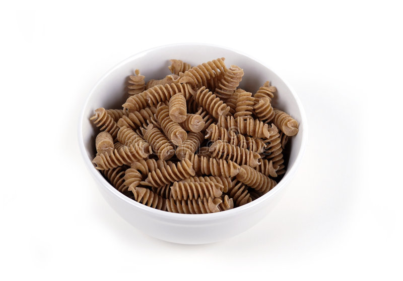 jedzenie makaronu wholewheat zdjęcia stock