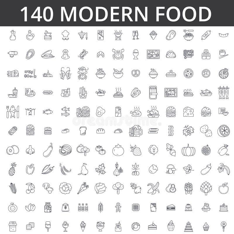 Jedzenie, mięso, warzywo, owoc, pieczony kurczak, świeża ryba, posiłek, organicznie dieta, ulica, łasowanie, gastronomy, kulinarn ilustracja wektor