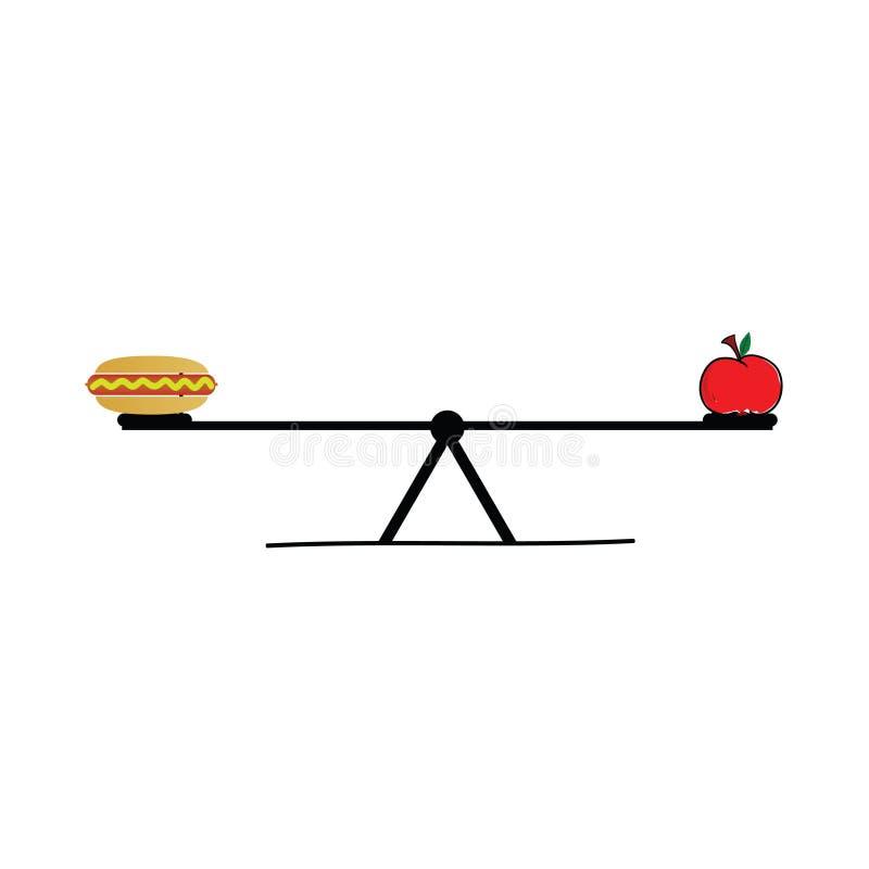 Jedzenie na teeter ilustracji