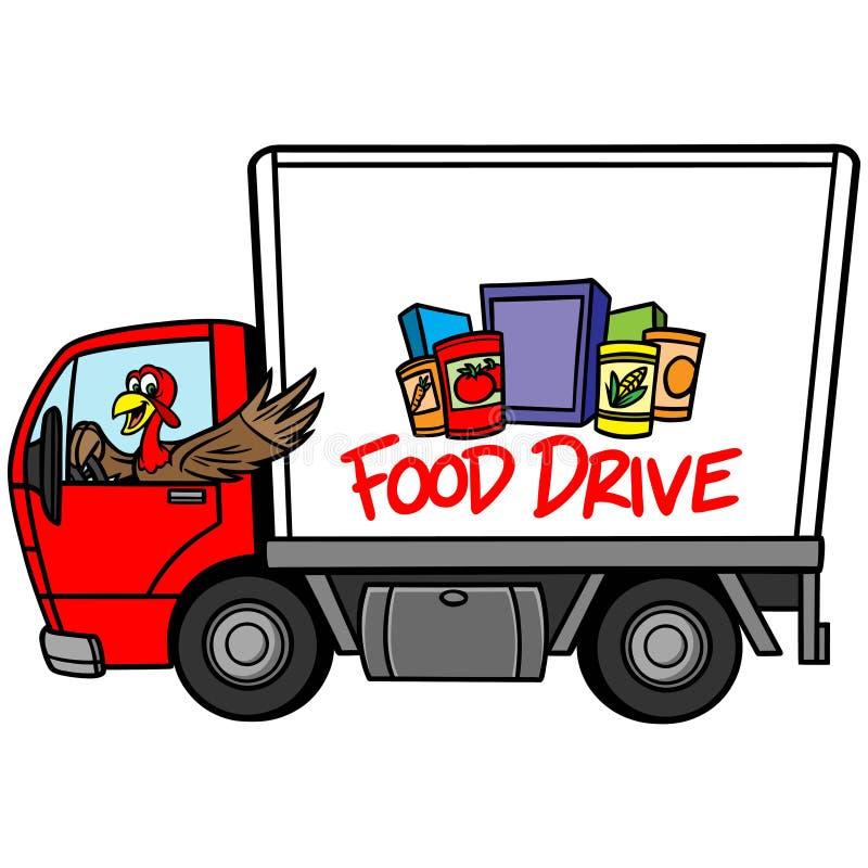 Jedzenie przejażdżka ilustracji