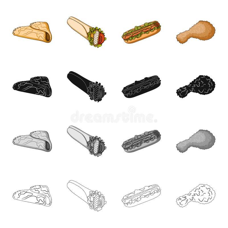 Jedzenie, przekąski, post i inna sieci ikona w kreskówka stylu, Bliny, mąka, produkt ikony w ustalonej kolekci royalty ilustracja