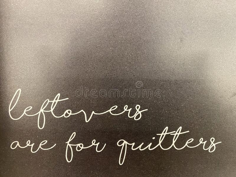 Jedzenie resztek jest dla Quitters zdjęcie royalty free