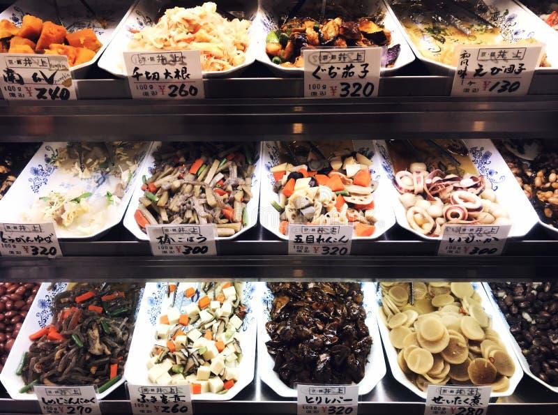 Jedzenie rynek, Japan, Kyoto zdjęcia stock