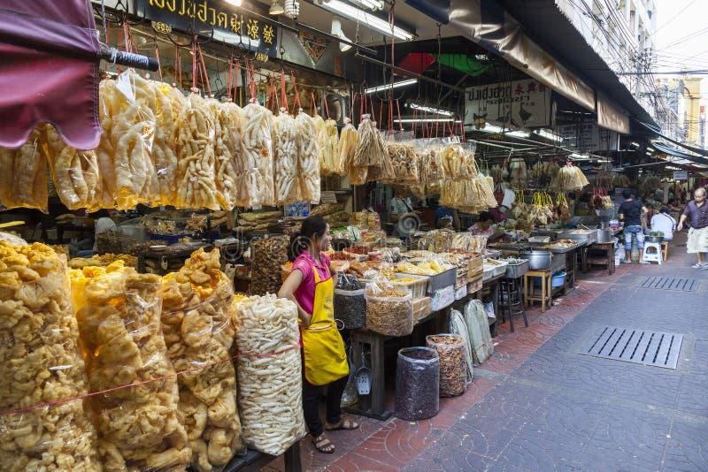 Jedzenie rynek w Bangkok, Tajlandia obrazy stock