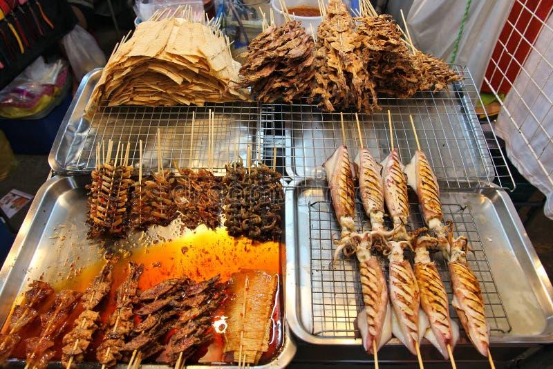 Jedzenie rynek w Tajlandia zdjęcia stock