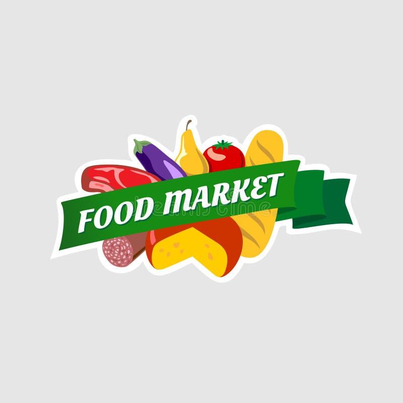 Jedzenie rynku znak ilustracji