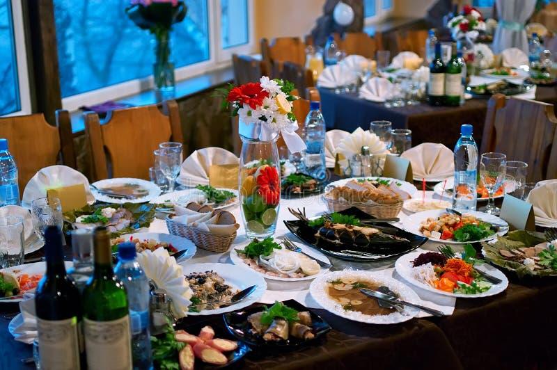 jedzenie stół fotografia stock