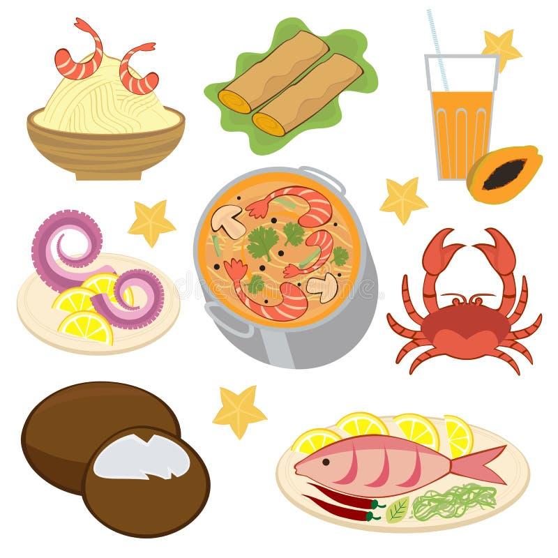 jedzenie tajlandzki ilustracji