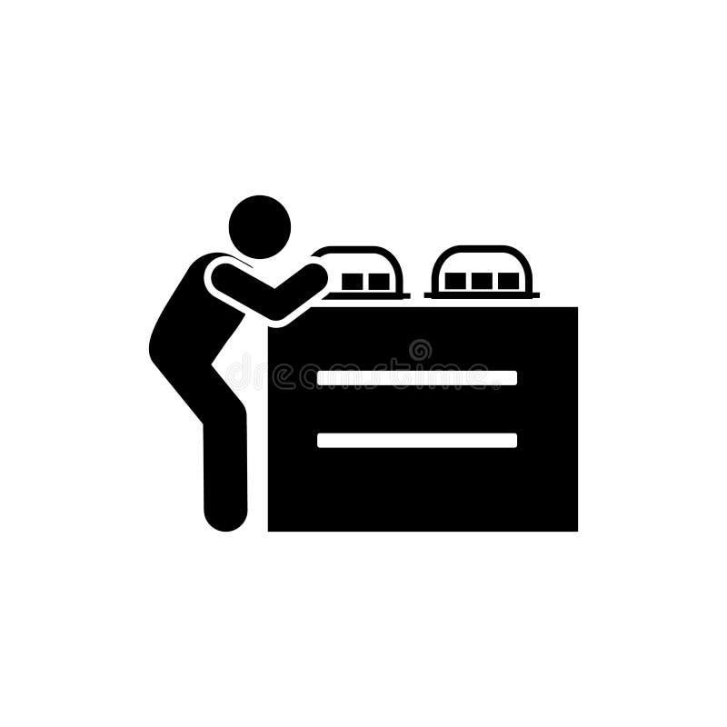 Jedzenie, usługi, hotel, mężczyzna ikona Element hotelowa piktogram ikona Premii ilo?ci graficznego projekta ikona podpisz symbol ilustracja wektor
