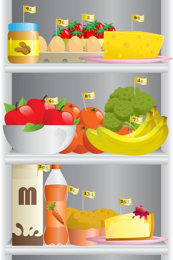 Jedzenie w chłodziarce royalty ilustracja