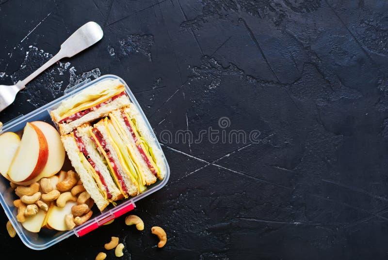 Jedzenie w lunchu pudełku zdjęcia stock