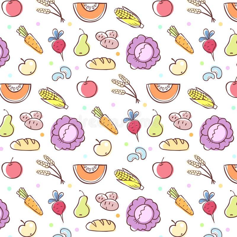 Jedzenie wzór ilustracja wektor