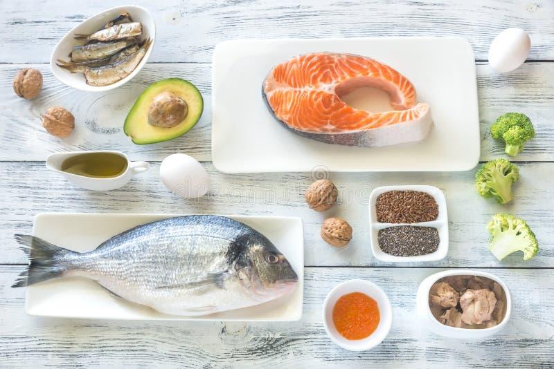 Jedzenie z Omega-3 sadło zdjęcia royalty free