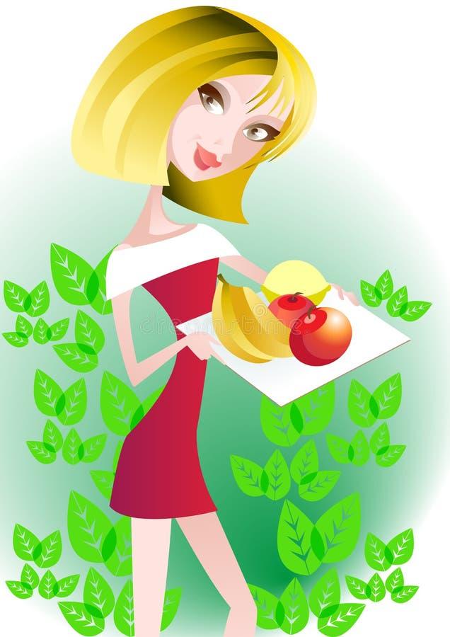 jedzenie zdrowy ilustracja wektor