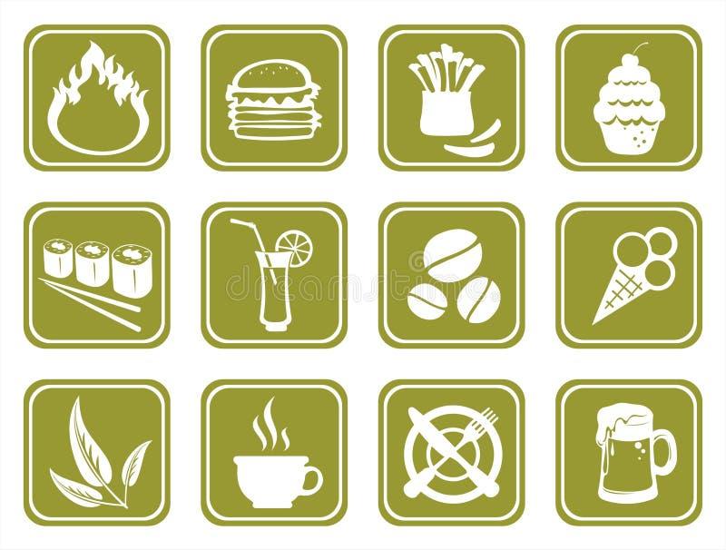 jedzenie zielone symboli ilustracja wektor