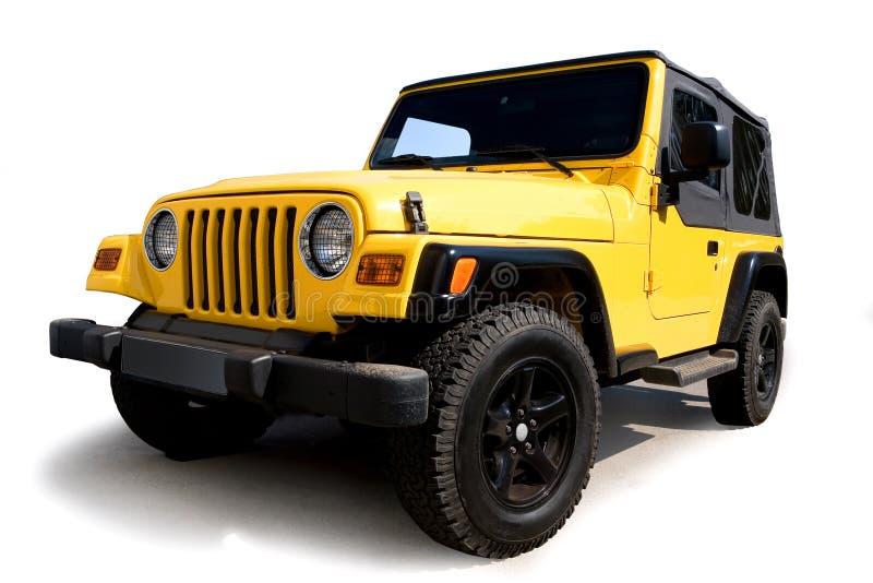 Jeep amarillo fotos de archivo