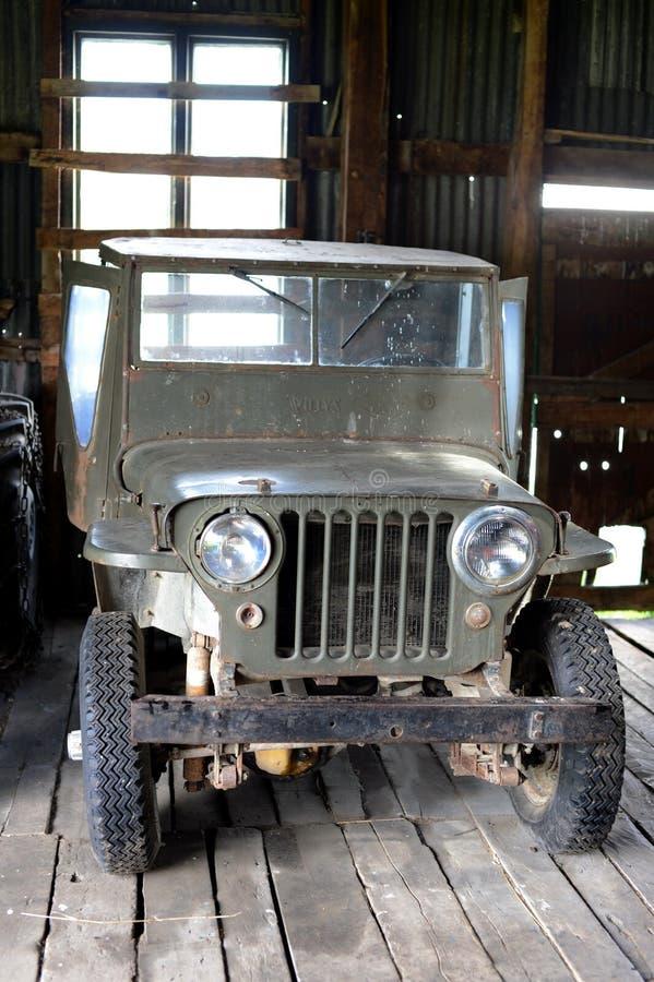 Jeep americano del coche en el estado Herberton foto de archivo