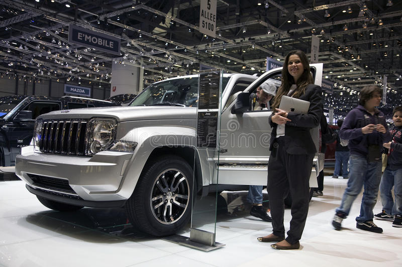 Jeep Cherokee Limited CRD. At the 2011 Geneva Motor Show. Photo taken on: March 04th, 2011 stock image