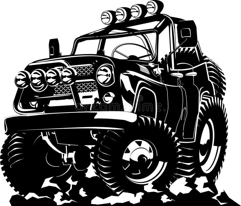 Jeep de bande dessinée illustration de vecteur