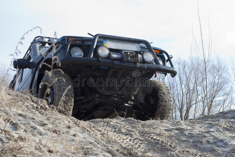 Jeep de Niva. tous terrains photos libres de droits