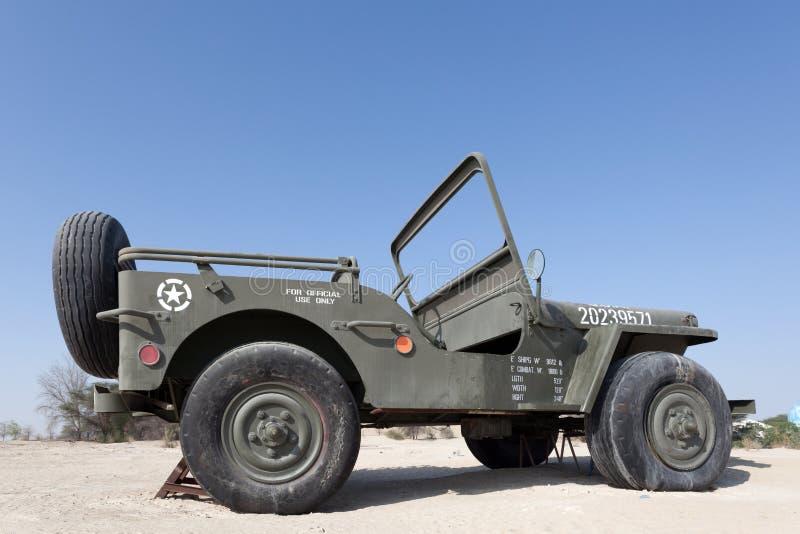 Jeep de Willys au musée d'automobile d'émirats photo stock