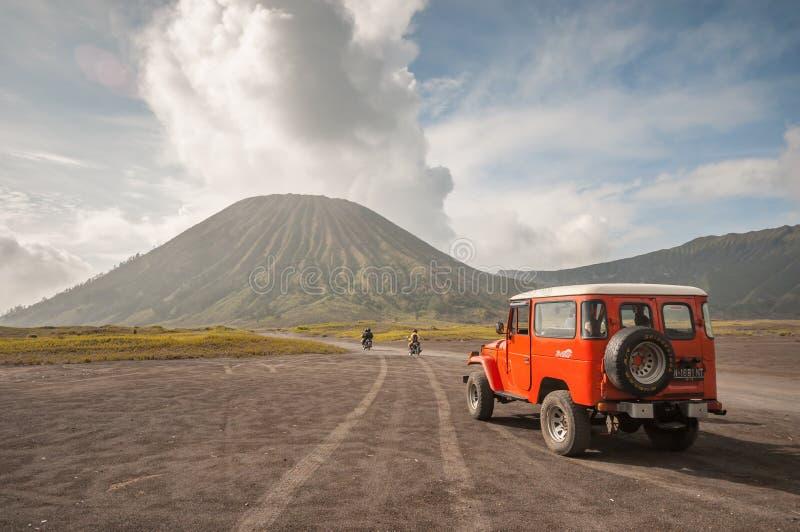 Jeep dei turisti fotografie stock