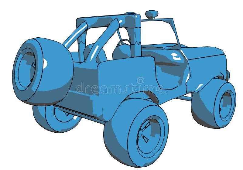 Jeep del fumetto illustrazione di stock