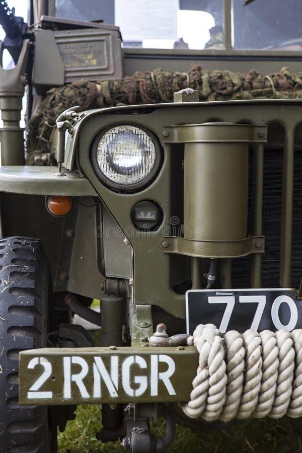 Jeep dell'americano dell'annata WWII fotografie stock