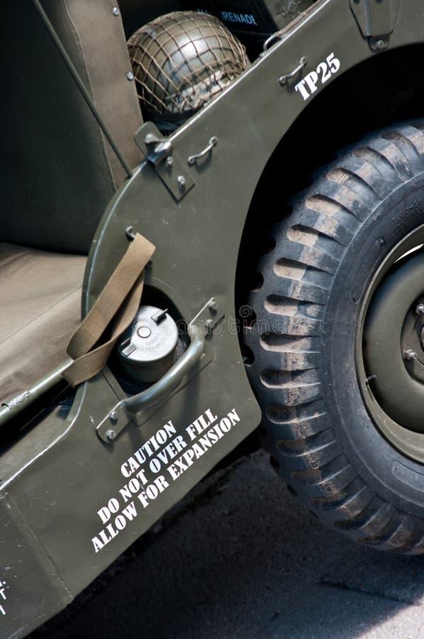 Jeep dell'esercito americano fotografie stock libere da diritti