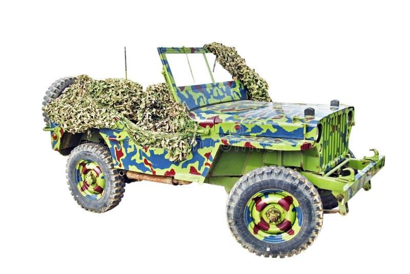Jeep dell'esercito americano fotografia stock