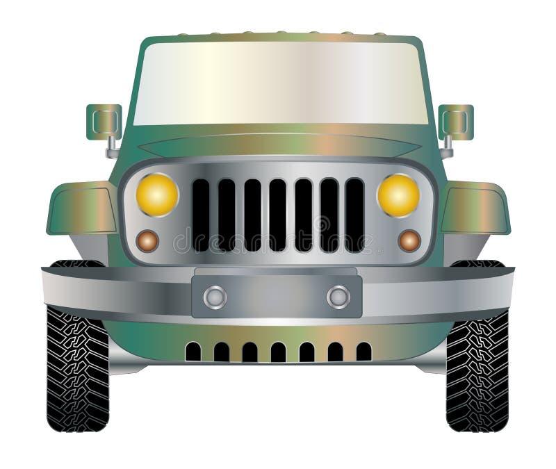 Jeep in der Front vektor abbildung