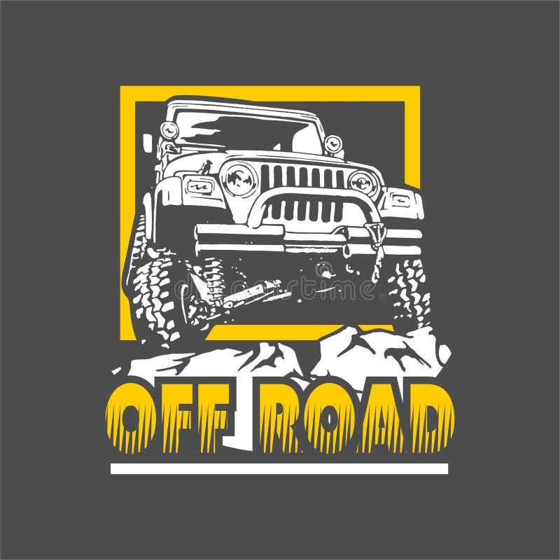 Jeep di Off Road illustrazione vettoriale
