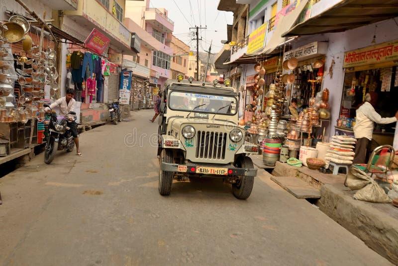 Jeep en Jaipur foto de archivo