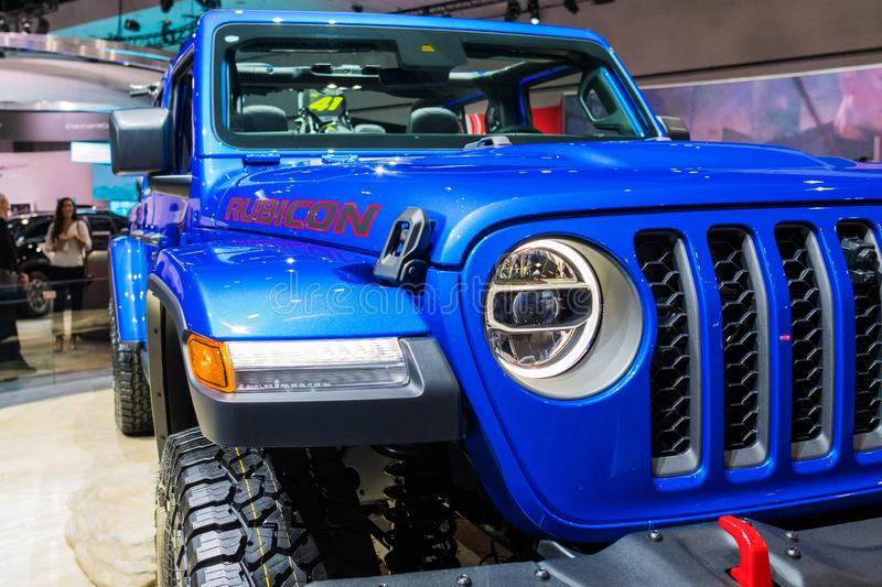 Jeep Gladiator on display during Los Angeles Auto Show stock photos