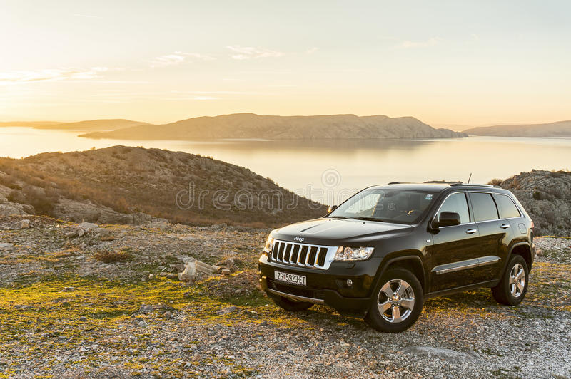 Jeep Grand Cherokee front stock images