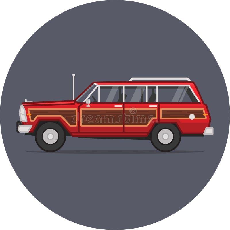 Jeep Grand Wagoneer-Illustration stockfotos