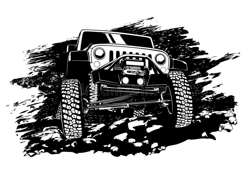 Jeep nicht für den Straßenverkehr vektor abbildung