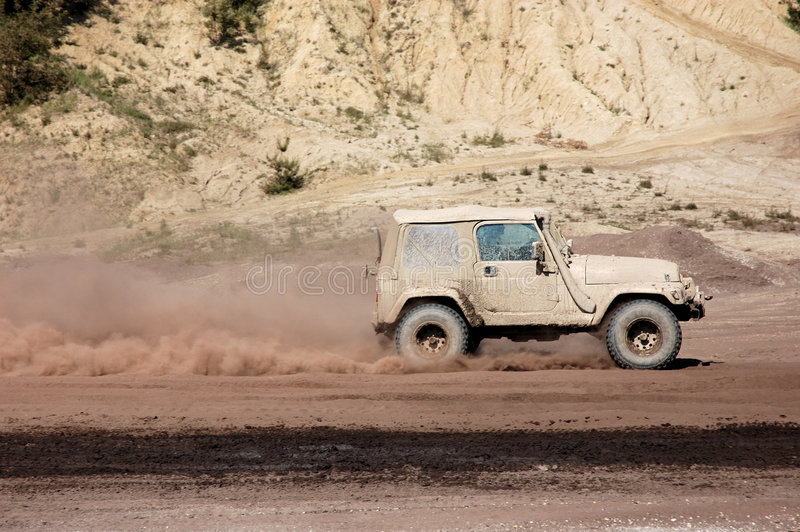 Jeep Offroad Race stock photo