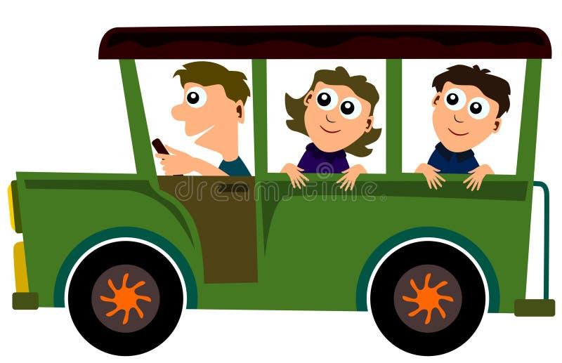 Download Jeep ride stock illustration. Illustration of jeep, female - 23973884