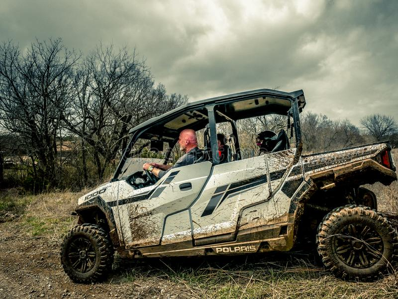 Jeep Rock Crawling orange photographie stock