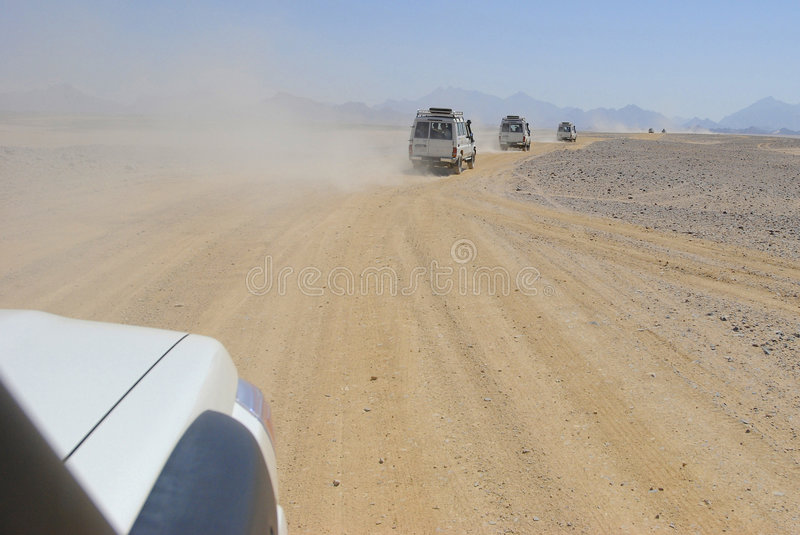 Jeep Safari In Africa Royalty Free Stock Images