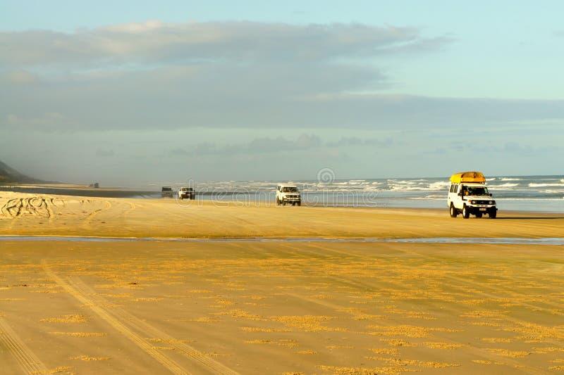Jeep Safari on Fraser island, Australia stock photo