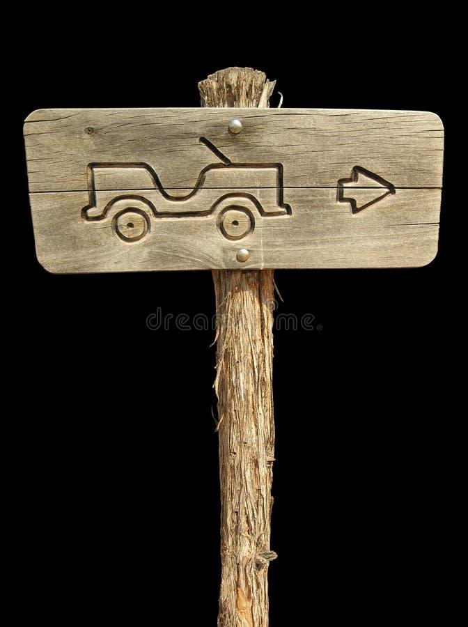 Jeep Sign on Black stock photos