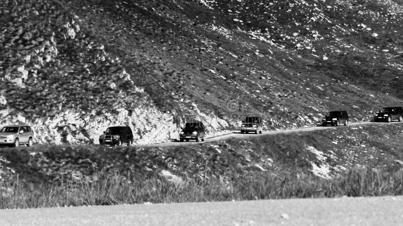 Jeep Tour in montagne fotografia stock libera da diritti