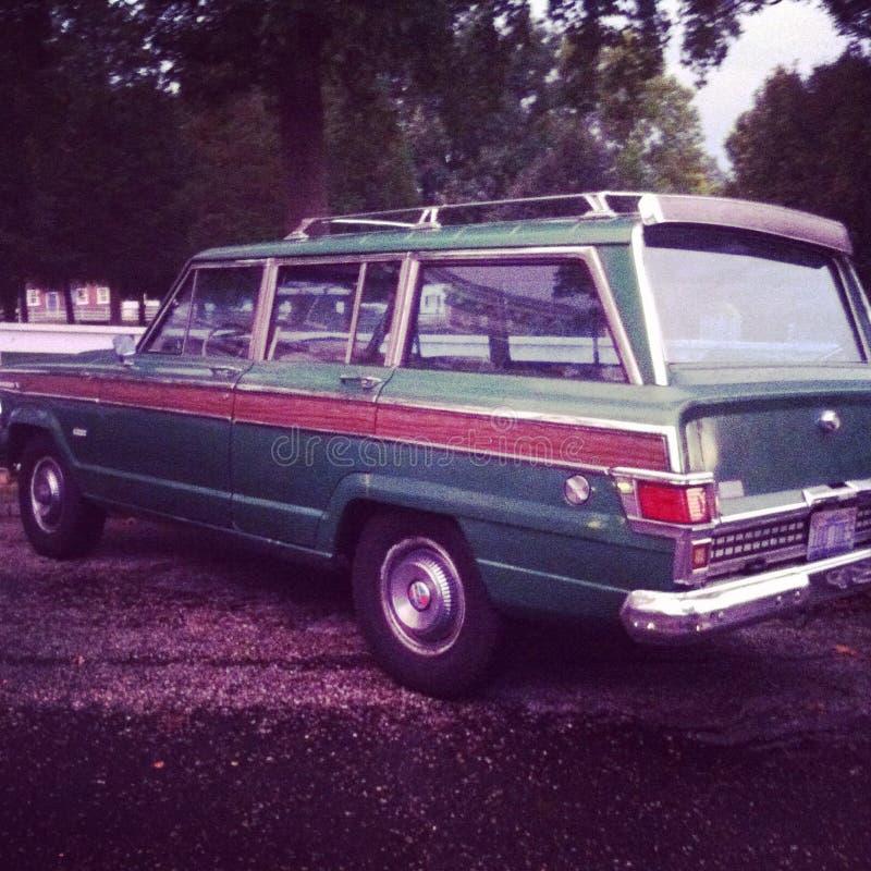 Jeep Wood Panel Wagoneer imagenes de archivo